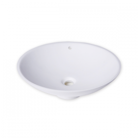 white acrylic solid surface basin
