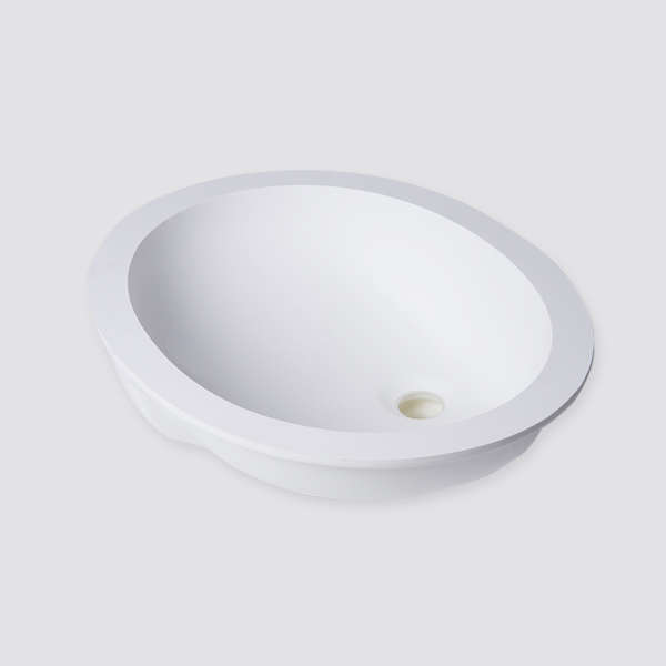 101a Pure White Solid Surface Sinks For Bathromm