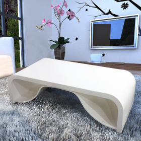 white acrylic cofee table