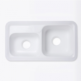 white solid surface wash basin