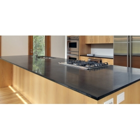 black solid surface countertops
