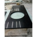 polished black quartz stone countertops for kitchen decoration