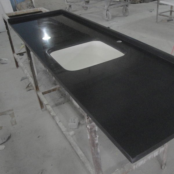 Man Made Acrylic Black Solid Surface Countertop