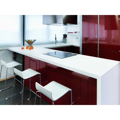 High Class Cheapest White Acrylic Solid Surface Kitchen