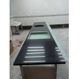 black acrylic Solid Surface