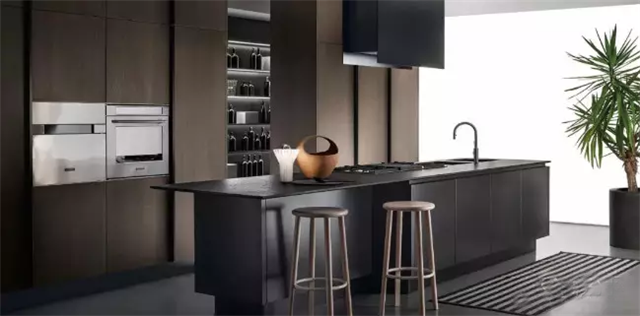 High level gray, black and brown with advanced texture-- countertop needs this style